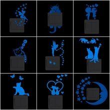 Brilham No Escuro Adesivos De Parede Dos Desenhos Animados