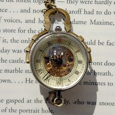 Victorian Glass Ball Wind-up Watch Necklace