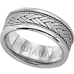 8.5mm comfort fit hand woven wedding band by Diana