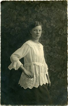 RPPC Portrait of a young woman - Germany - c.1915 by Patrick Bradley 70, via Flickr