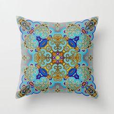 Kaleidoscopic Mosaic Throw Pillow Cover
