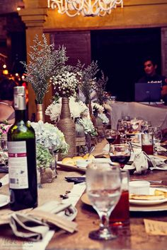 This radiant couple's lavish event doesn't just feature details - but loads of it. From a bucketful of finely crafted trinkets that we're raving about to their elaborate table décor, are all the goodies that'll delight us today. Rustic Bohemian Wedding, Table Settings, Table Decorations, Home Decor, Decoration Home, Room Decor, Place Settings, Home Interior Design, Dinner Table Decorations