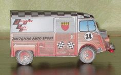 Citroen HY Juvinac Club Paper Model - by Bombard - via Le forum En Papier    ==        Using as a basis a paper model of the original French designer Camille, the modeler Bombard, also from France, created this nice Citroen Hy Juvilac Club.