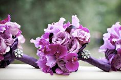 Radiant Orchid Wedding Bouquet