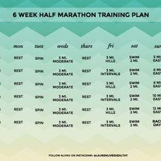 6-Week Half Marathon Training Plan | Lauren Lives Healthy