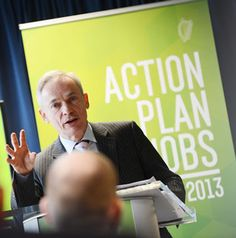 300 new jobs in Dublin and Cork announced by international firm HubSpot and internet security firm FireEye. Minister for Jobs Richard Bruton said the announcement was a 'great boost'.