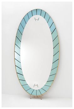 Cristal Art standing mirror Italy 1960