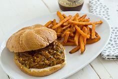 Bourbon Mango Pulled Summer Squash Sandwiches | oh my veggies