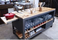 The Most Impressive Kitchen Island Ever: The 'Mise en Place' Work Table