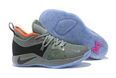 c4d8f58585d61 Famous Brand Nike PG 2 Palmdale EP All Star Clay Green Black 300 Men s  Basketball Shoes Male Sneakers