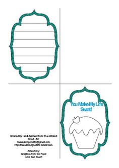 This card can be used for general purposes or for Mother's Day.  It includes space for students to write a letter.  This card could go along wi...
