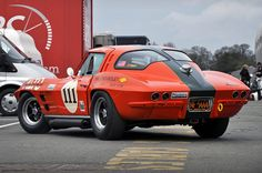 John Young's 1963 Chevrolet Corvette Stingray No.111 - 2011 Masters Historic Festival at Oulton Park