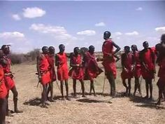 Masai warriors jumping during a dance - Kenya.  Emily and I jumped with the masai in their village, but we don't have it on film, so here's another version...