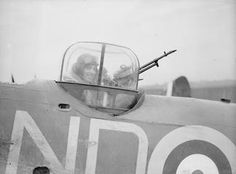 A close up view of the turret on a Bristol Blenheim long range fighter of No. 245 (Northern Rhodesian) Squadron at RAF Aldergrove, Northern Ireland Dunkirk Evacuation, Bristol Blenheim, Gun Turret, British Armed Forces, Ww2 Pictures, The Blitz, Ww2 Planes, Battle Of Britain, Aircraft Design