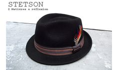 Stetson chapeau homme Oviedo noir #stetson #hat #feather #trilby #porkpie #chapeau #navy #marine