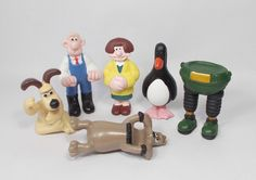 Wallace & Gromit - Mini Figures X 6 Animation, Mini, Character, Animation Movies, Anime, Lettering, Anime Shows, Motion Design