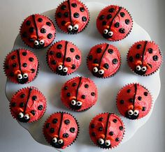 Gallery For > Lady Bug Cupcakes Ladybug Cupcakes, Kid Cupcakes, Birthday Cupcakes, Cupcake Cookies, Snowman Cupcakes, Princess Cupcakes, Summer Cupcakes, Animal Cupcakes, Baking Cupcakes