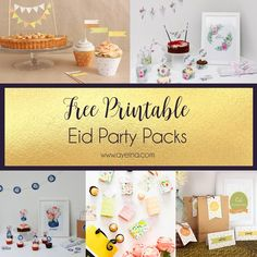 List of Free printable Eid Party Packs - Table Decor, Eid Banner/ Garland/ Flags/ Bunting, Cards/ Posters, Eid Envelopes/ Wrapping Sheets/ Boxes and Eid Gift Tags/Stickers Diy Eid Gifts, Diy Eid Cards, Ramadan Gifts, Eid Mubarak, Eid Chocolates, Diy Eid Decorations, Eid Envelopes, Eid Cupcakes, Fest Des Fastenbrechens