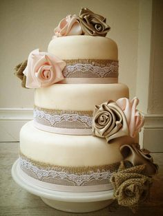 Vintage French Style Wedding Cake
