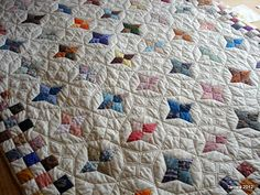 Beautiful integration of block pattern and quilting
