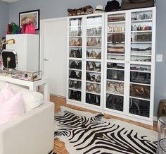 IKEA BILLY: Weekend decorating idea: A clutter free accessory closet — The Decorista