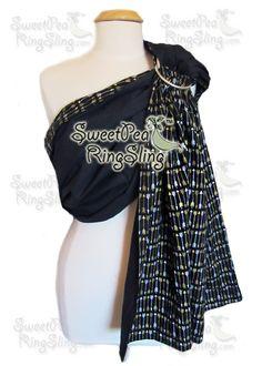Premium Slings - SweetPea Ring Slings™  Black Arrows Ring Sling