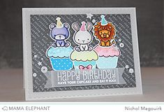 nichol magouirk: Mama Elephant - Stamp Highlight: Carnival Cupcakes
