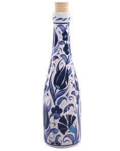 Tulip Pattern Ceramic Bottle