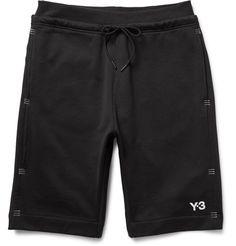 3ef5cd2dea01c5 Y-3 Tack Stitch-Detailed Loopback Cotton-Jersey Shorts.  y-