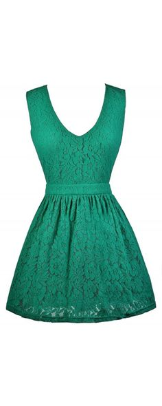 Lily Boutique In Love With Lace A-Line Dress in Jade, $30 Green Lace Dress, Teal Lace Dress, Lace A-Line Dress, Cute Summer Dress www.lilyboutique.com
