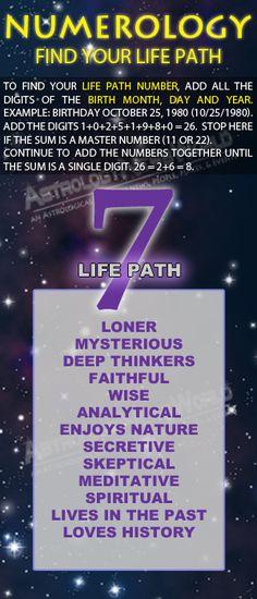 ..Numerology: Life Path #7