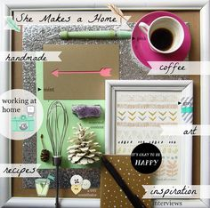 #blogboss moodboard project for decor8eclasses.com  She Makes a Home BYW Collage 2 by Ashley Pahl, via Flickr