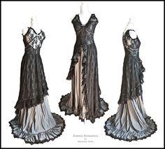 Dress Sepiolite, victorian, edwardian, art nouveau, size M, Somnia Romantica by Marjolein Turin