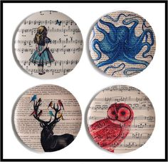 11 patterns to choose from!! Buy 4 PLATES Melamine Dinner Plates by BlackBaroque, $64.00. GIVE ME PLEASE!!