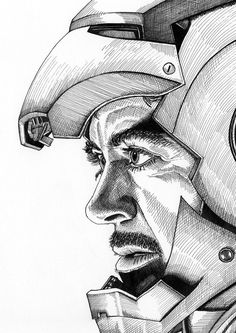 Iron Man Portrait Print is part of pencil-drawings - 8 3 x 11 7 in) Watermark will NOT appear on actual prints Ironman Tattoo, Thor Drawing, Iron Man Drawing, Iron Man Kunst, Iron Man Art, Spiderman Kunst, Spiderman Drawing, Hero Marvel, Marvel Art