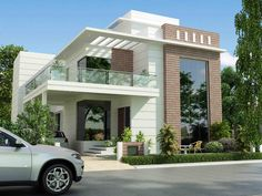 Architectural design is a concept that focuses on components or elements of a structure. An architect is generally the one in charge of the architectural design House Extension Design, House Front Design, Modern House Design, Residential Building Design, Home Building Design, Affordable House Plans, Model House Plan, Modern Architects, Villa Design
