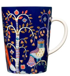 Iittala Taika Oz Mug, Blue, Crafted by skilled artisans of vitro porcelain for a glossy finish, this stunning mug will draw attention with its artful enchanted forest motif rendered in a deep color palette. Design Bleu, New Bedroom Design, Kartell, Porcelain Mugs, Ceramic Mugs, Porcelain Dinnerware, Home Decor Online, Office Accessories, Decoration