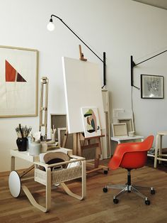 Studioilse VitraHaus loft with Vitra and Artek furnitureThis is a great idea for storage for my art supplies  I already  . Artist Studio Furniture Uk. Home Design Ideas