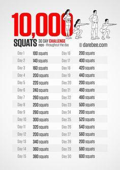 10,000 squat challenge in 30 days