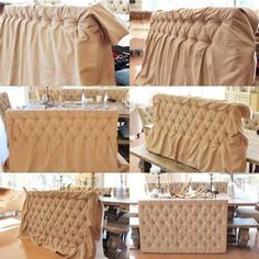 Projects ideas how to make tufted headboard tutorial for furniture Furniture Projects, Furniture Makeover, Home Projects, Diy Furniture, Reupholster Furniture, Pallet Projects, Furniture Plans, Sewing Projects, Furniture Design
