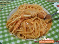 Linguine agli scampi, ricetta linguine con scampi Fish Recipes, Healthy Recipes, Gnocchi, Main Meals, Paella, Love Food, Seafood, Spaghetti, Food Porn