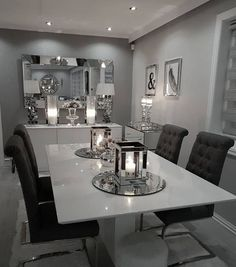 40 Beautiful Modern Dining Room Ideas Contemporary Dining Rooms  Extraordinary Black And Grey Dining Room Design