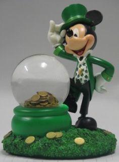 Your WDW Store - Disney Snow Globe - Mickey Mouse - St Patrick's Day - Leprechaun