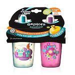 """Tommee Tippee Explora Truly Spill Proof Water Bottle - 2pk Girl (Colors/Styles May Vary) - Tommee Tippee  - Babies""""R""""Us"""