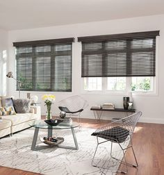 TWO Bali Faux 2 Wood Black Blinds 47 x 38 with wood valence See Description Black Blinds, Faux Wood Blinds, Window Treatments Living Room, Custom Window Treatments, Wood Valence, Home Renovation, Home Remodeling, Kitchen Window Valances, Dining Room Windows