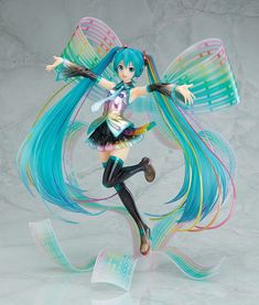 [+39% TOM Points for 1 Day Only!] This item comes with an extra 39% cash back in TOM Points when you pre-order by Nov. 10, 2017, 11:59 pm (PST) Celebrating 10 years of Hatsune Miku!Hatsune Miku celebrated her 10th anniversary on the 31st August 2017. In commemoration of the anniversary, Hatsune Miku's character designer KEI illustrated a brand new illustration of Miku featuring the outfit designed by manga artist Mari Shimazaki. This illustration has now been transformed into an intri...