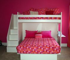 Cute idea for a childs room!! If 2 siblings share a room or your child wants to have a friend over!!
