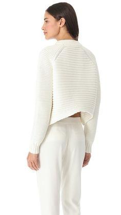 [ alexander wang ]: mixed rib pullover