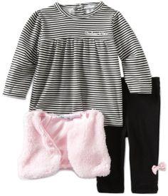 Calvin Klein Baby-Girls Newborn Print 3 Piece « Clothing Impulse