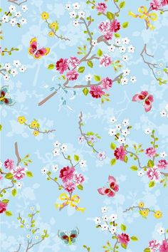 May 2020 - Floral images to inspire your designs. See more ideas about Floral, Pattern wallpaper and Prints. Blue Wallpapers, Wallpaper Backgrounds, Iphone Wallpaper, Bedroom Wallpaper, Blue Backgrounds, Pip Studio, Rose Pink Wallpaper, Traditional Wallpaper, Decoupage Paper
